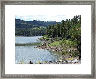 River Reservoir Framed Print