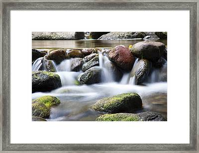 River Rocks Framed Print by Jenna Szerlag