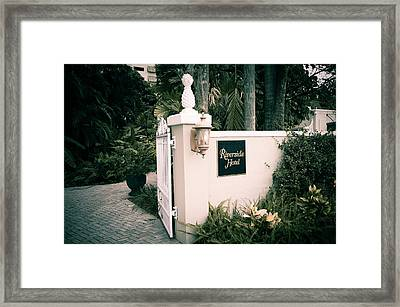 Riverside Hotel Framed Print by Bill Howard