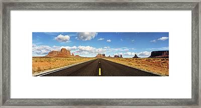 Road, Monument Valley, Arizona, Usa Framed Print