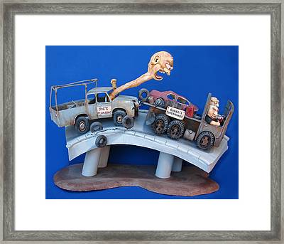 Road Rage Framed Print by Stuart Swartz