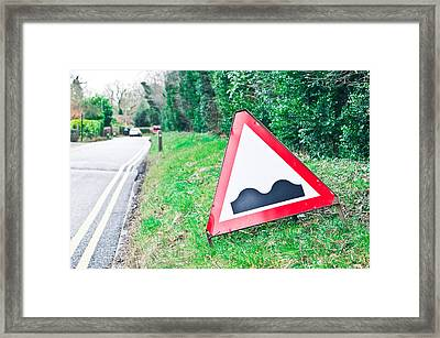 Road Sign Framed Print