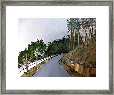 Road To The Hills Framed Print