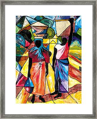Road To The Market Framed Print
