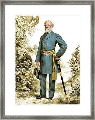 Robert E. Lee, Confederate Army Framed Print by Photo Researchers