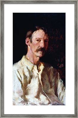 Robert Louis Stevenson (1850-1894) Framed Print by Granger