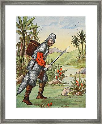Robinson Crusoe Framed Print by English School