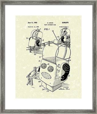 Robot Ride 1963 Patent Art Framed Print