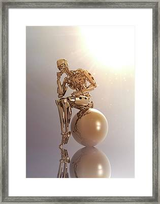 Robot Framed Print by Victor Habbick Visions