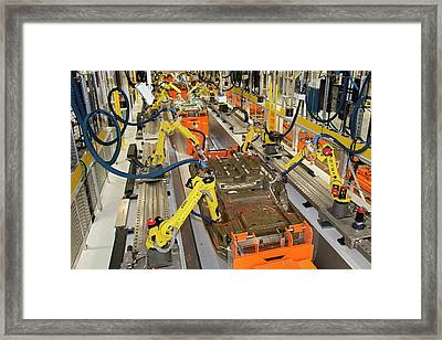 Robotic Car Production Line Framed Print by Jim West