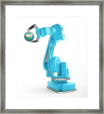 Robotic Equipment Framed Print