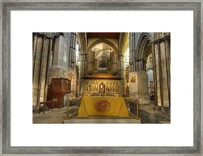 Rochester Castle Kent England Hdr  Framed Print by David French