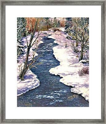 Rock Creek Winter Framed Print