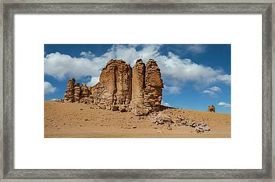 Rock Formations In The Pacana Guardians Framed Print