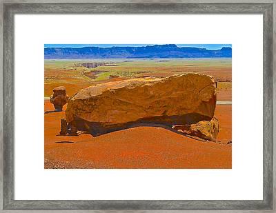 Rock Orange Framed Print