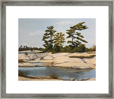 Rock Ponds. Lost Bay. Beausoleil Framed Print by Humphrey Carter