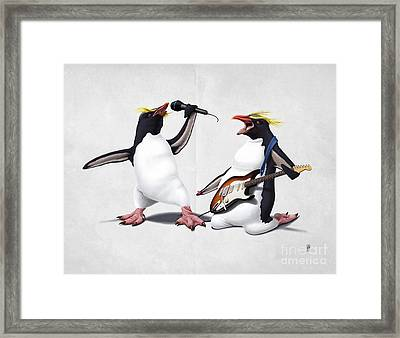 Rock Wordless Framed Print by Rob Snow