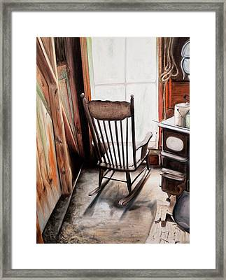 Rocking Chair Framed Print by S Aili
