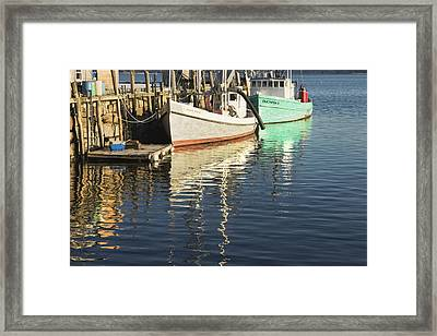 Rockland Maine Fishing Boats And Harbor Framed Print by Keith Webber Jr