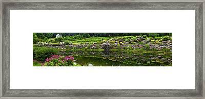 Rocks And Plants In Rock Garden Framed Print