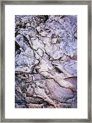 Rocks At Georgian Bay Framed Print by Elena Elisseeva