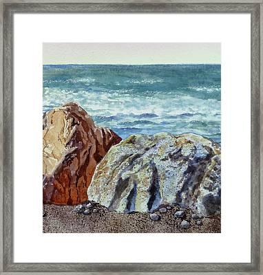 Rocks Framed Print by Irina Sztukowski