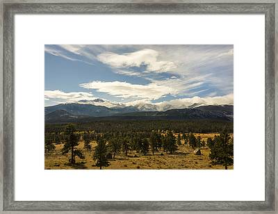 Rocky Mountain National Park - Estes Park Colorado Framed Print