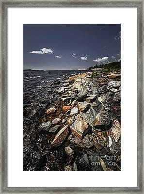 Rocky Shore Of Georgian Bay Framed Print