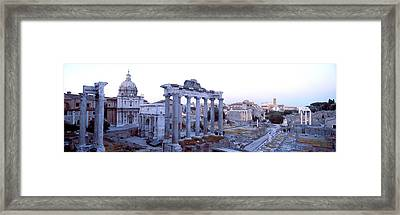 Roman Forum Rome Italy Framed Print by Panoramic Images