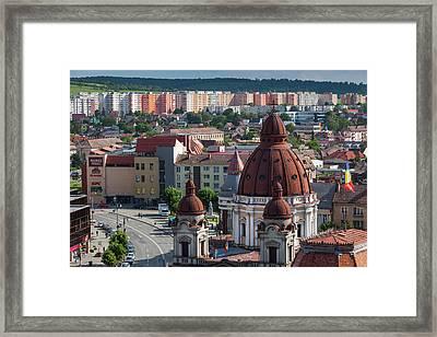 Romania, Transylvania, Targu Mures Framed Print by Walter Bibikow