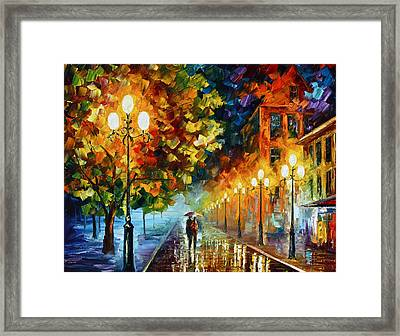 Romantic Aura  Framed Print by Leonid Afremov