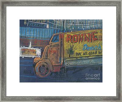 Framed Print featuring the painting Ronnie John's by Donald Maier