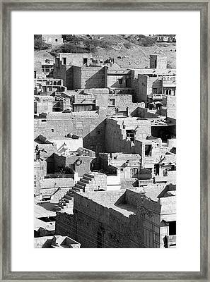 Roof Tops Of Houses Framed Print by Jagdish Agarwal