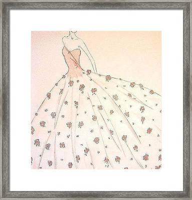 Rose Ball Gown   Framed Print by Christine Corretti