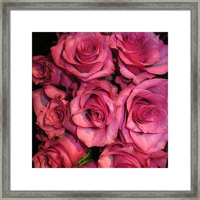 Rosebouquet In Pink Framed Print