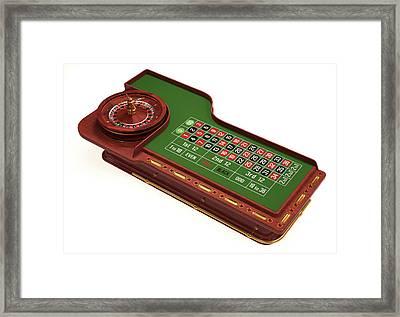 Roulette Table Framed Print