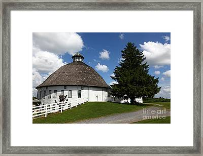 Biglerville Round Barn Near Gettysburg Framed Print