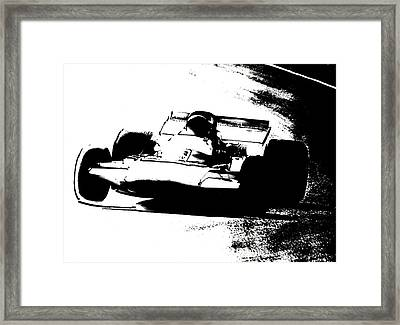 Rounding The Bend Framed Print by Mike Flynn