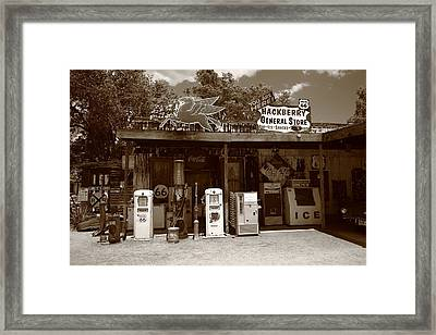 Route 66 - Hackberry General Store Framed Print