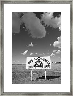 Route 66 - Midpoint Sign Framed Print