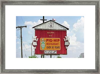Route 66 - Pig-hip Restaurant Framed Print