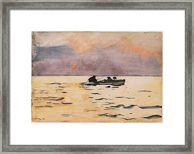Rowing Home Framed Print