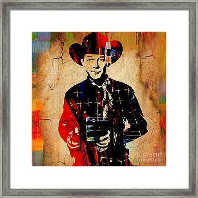 Roy Rogers Collection Framed Print by Marvin Blaine