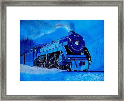 Royal Blue Express Framed Print by Pjohn Artman
