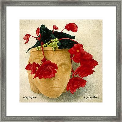 Ruby Begonia... Framed Print