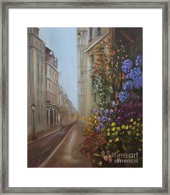 Rue De Fleur Framed Print