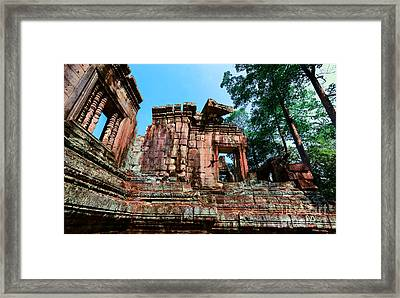 Ruin At Angkor Framed Print by Julian Cook