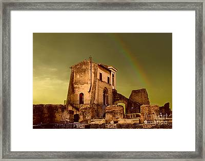 Ruin At Palatine Hill Framed Print by Julian Cook