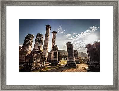 Ruins Of The Temple Of Artemis  Sardis Framed Print
