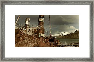 Rusted Whaling Boats Framed Print